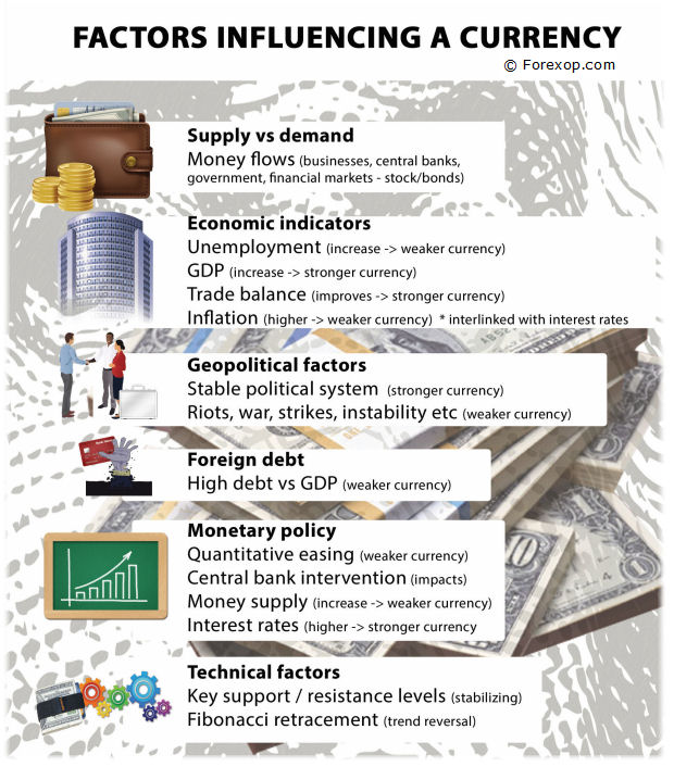 Figure 1: What factors influence currencies?