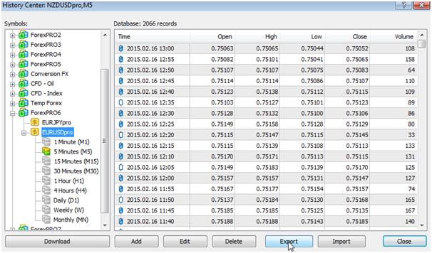 MetaTrader download tab