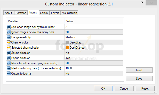 Figure 11: Input settings