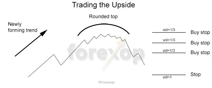 Figure 2: Trading an anticipated upside continuation in a rounded top