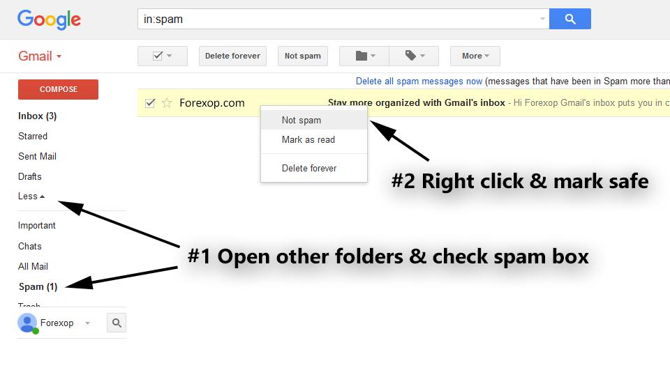 Google: Adding to safe senders' list