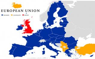 Brexit EU map