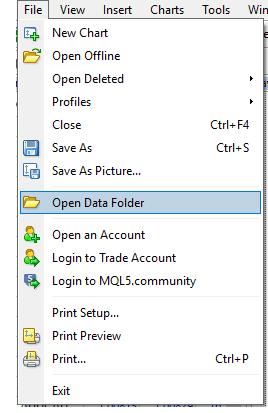 Use data folder to locate the folder