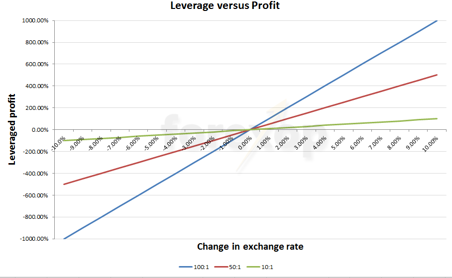 Figure 1: The effects of leverage on profits/losses