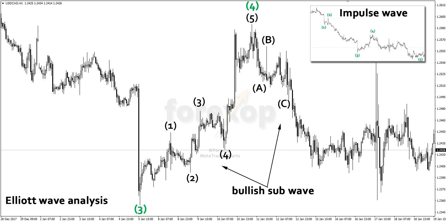 Figure 3: Elliott wave analysis example