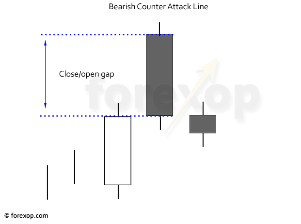 Figure 2: A bearish counter attack pattern